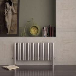 Carisa Fortuna Brushed Stainless Steel Radiator - 1035 x 600mm