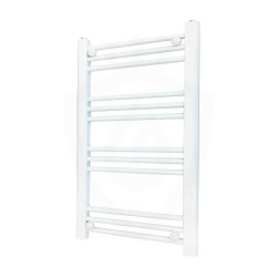 Straight White Towel Rail - 500 x 800mm