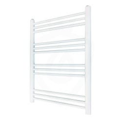 Straight White Towel Rail - 600 x 800mm
