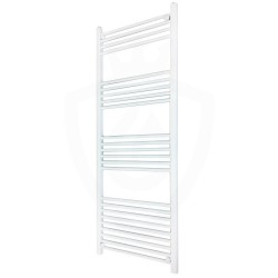 Straight White Towel Rail - 600 x 1500mm
