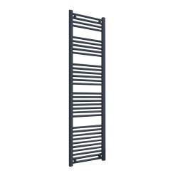 Straight Anthracite Towel Rail - 400 x 1600mm