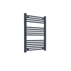 Straight Anthracite Towel Rail - 500 x 800mm