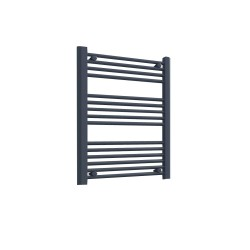 Straight Anthracite Towel Rail - 600 x 800mm