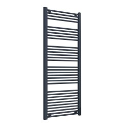 Straight Anthracite Towel Rail - 600 x 1600mm