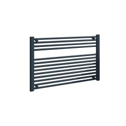 Straight Anthracite Towel Rail - 900 x 600mm
