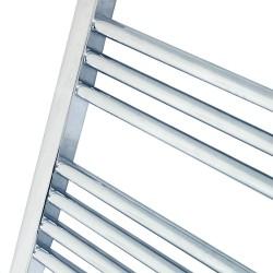 Straight Chrome Towel Rail - 500 x 1800mm - Closeup