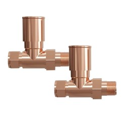 Straight Copper Radiator Valves