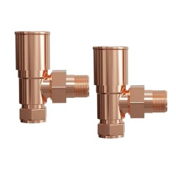 Angled Copper Radiator Valves