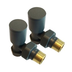 Anthracite Radiator Valves Angled