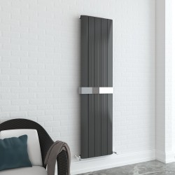 Supreme Anthracite Aluminium Radiator - 470 x 1800mm With Towel Bar