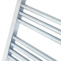 Straight Chrome Towel Rail - 600 x 1800mm - Closeup