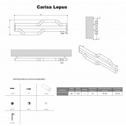 Carisa Lepus Brushed Stainless Steel Designer Towel Rail - 1200 x 335mm - Technical Drawing