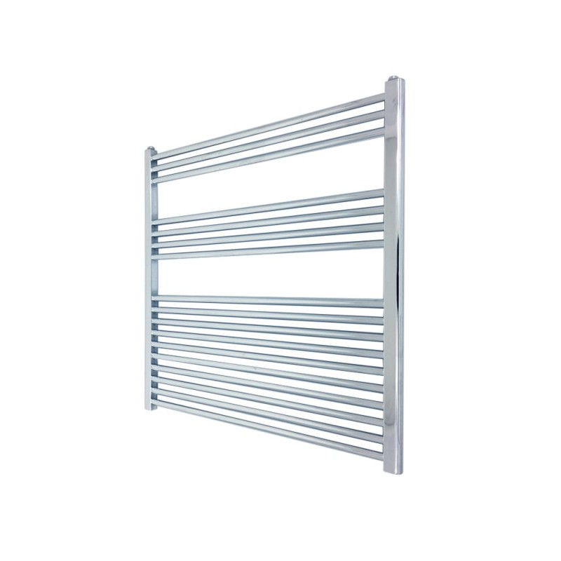 Straight Chrome Towel Rail - 900 x 900mm