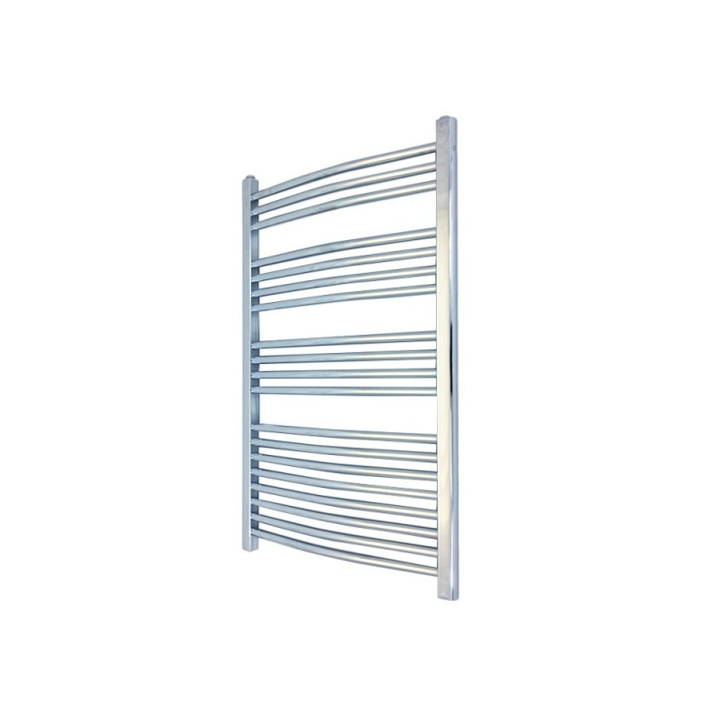 Curved Chrome Towel Rail - 500 x 1000mm