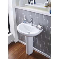 Ivo 555mm 2 Tap Holes Basin & Pedestal