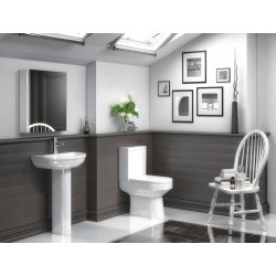 Harmony Semi Flush to Wall Toilet Pan and Cistern