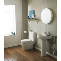 Provst Semi Flush to Wall Toilet Pan and Cistern