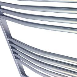 Curved Chrome Towel Rail - 500 x 1800mm