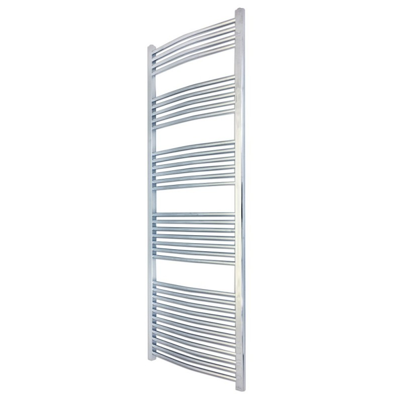 Curved Chrome Towel Rail - 500 x 1800mm