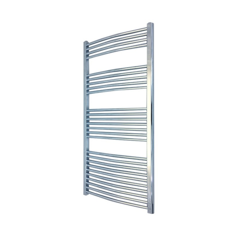 Curved Chrome Towel Rail - 600 x 1400mm