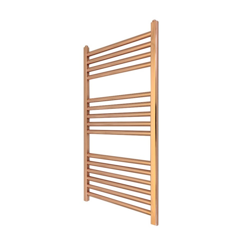 Straight Copper Towel Rail - 400 x 800mm