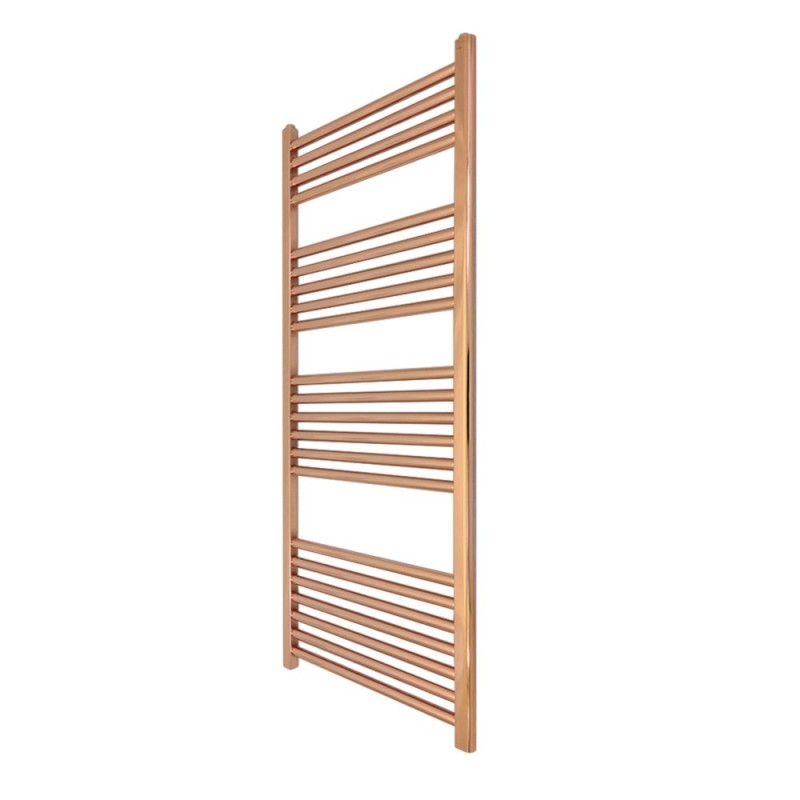 Straight Copper Towel Rail - 400 x 1200mm