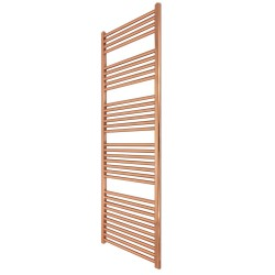 Straight Copper Towel Rail - 400 x 1600mm
