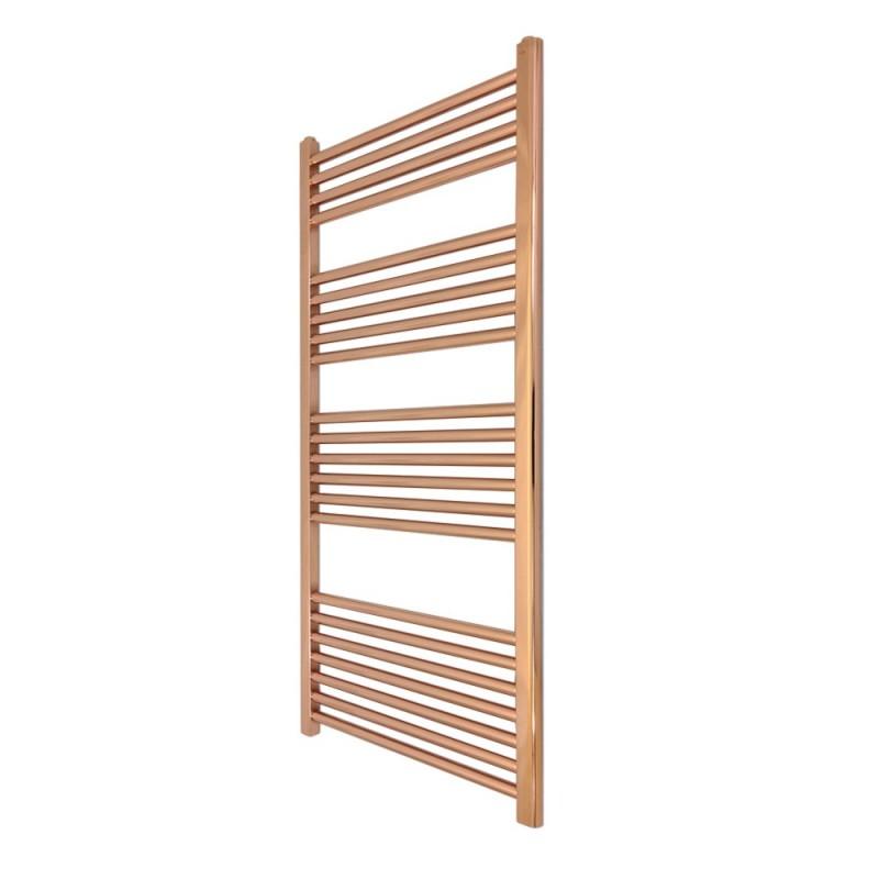 Straight Copper Towel Rail - 500 x 1200mm