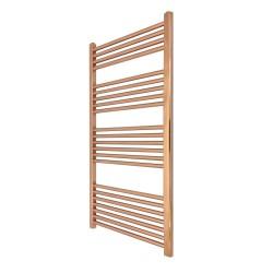 Straight Copper Towel Rail - 600 x 1200mm