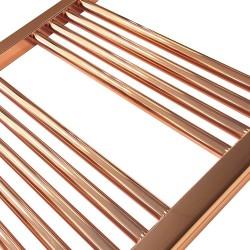 Straight Copper Towel Rail - 600 x 1600mm - Closeup