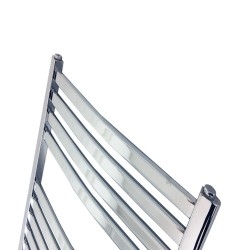 Emperor Chrome Designer Towel Rail - 500 x 1100mm - Closeup