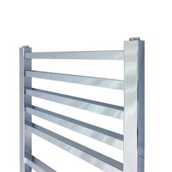Monarch Chrome Designer Towel Rail - 500 x 1700mm - Closeup