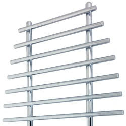 Duke Chrome Designer Towel Rail - 700 x 1200mm - Closeup