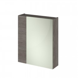 Athena Brown Grey Avola 600mm Mirror Unit - 75/25 Split