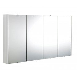 Eden 1200mm 4 Door Mirrored Cabinet