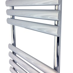 Queen Chrome Designer Towel Rail - 500 x 1200mm - Closeup