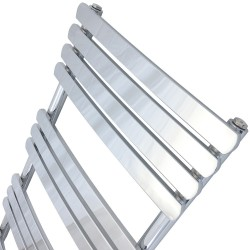 Ceasar Chrome Designer Towel Rail - 500 x 1200mm - Closeup