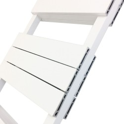 Viceroy White Double Designer Towel Rail - 500 x 1200mm