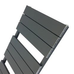 Viceroy Anthracite Designer Towel Rail - 500 x 1200mm - Closeup