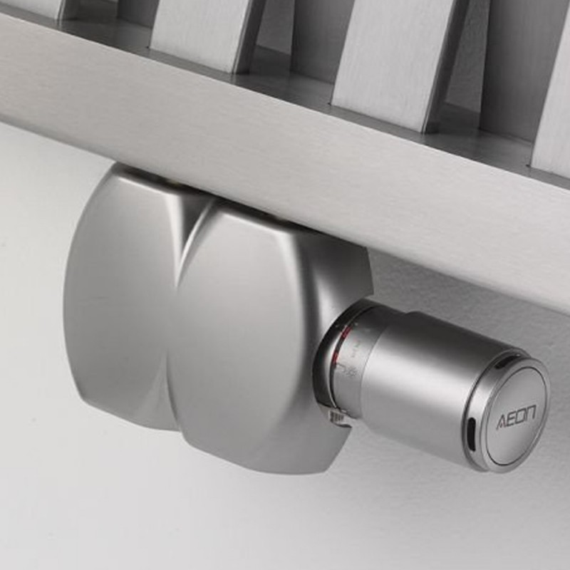 UDS927 - Aeon Interaxial Brushed Nickel Radiator Valves