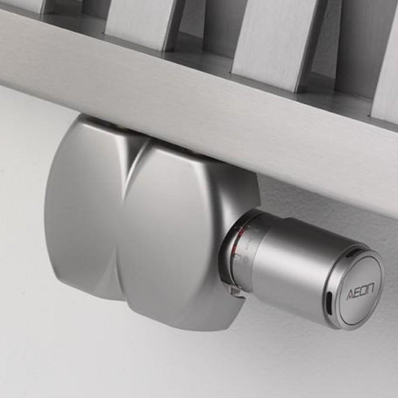 UDS927 - Aeon Interaxial Brushed Nickel Radiator Valves