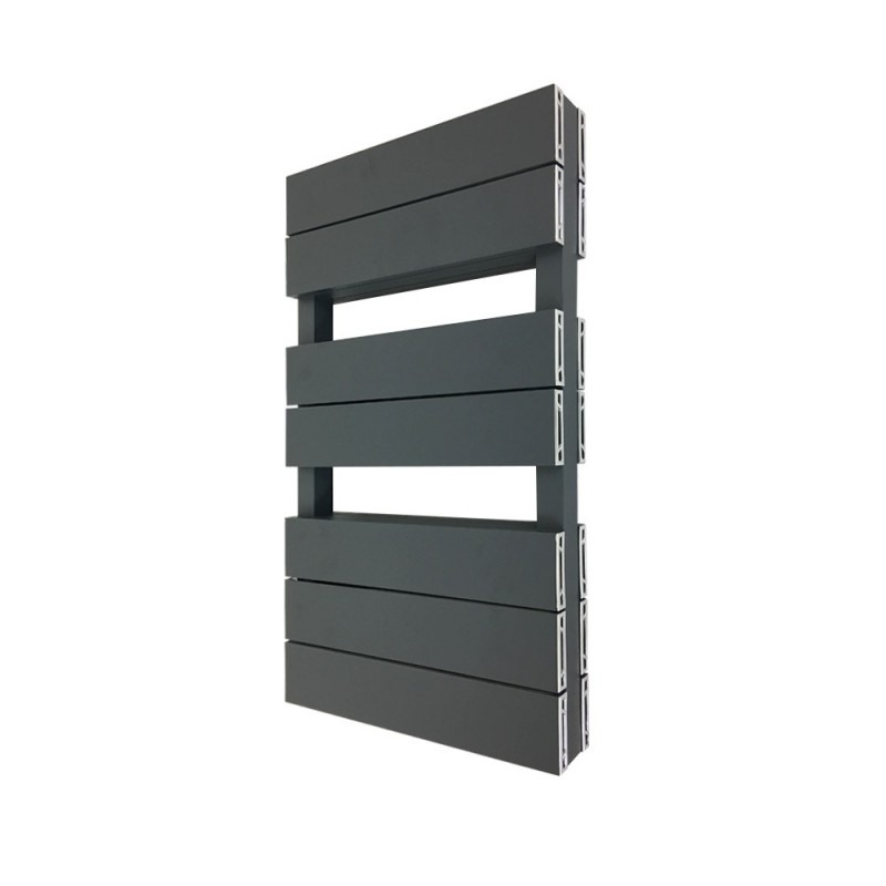 Viceroy Anthracite Double Designer Towel Rail - 500 x 800mm