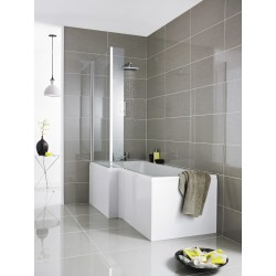 Square Shower 1700mm Bath Front Panel Acrylic