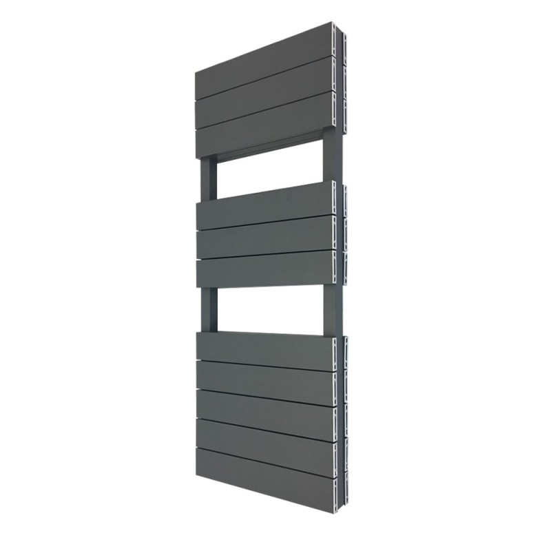 Viceroy Anthracite Double Designer Towel Rail - 500 x 1200mm