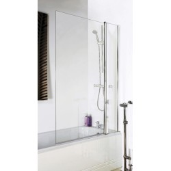 Square Bath Screen With Fixed Panel 1005mm x 1435mm