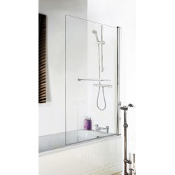 Square Bath Screen With Rail 790mm x 1435mm