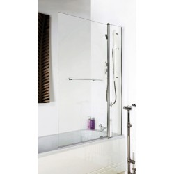 Square Bath Screen With Fixed Panel & Rail 1005mm x 1435mm