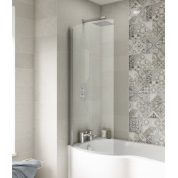 Curved P-Bath Screen 720mm x 1435mm