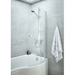 Curved P-Bath Screen With Knob 720mm x 1435mm