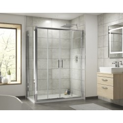 Pacific Double Sliding Shower Door 1500mm